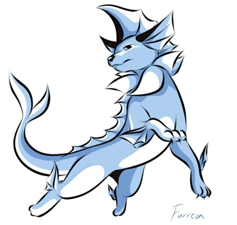 green s vaporeon 1st gen colors by furreon on deviantart
