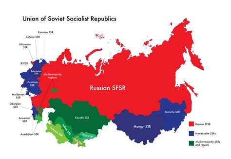 maps of ussr vs map of russia map of ussr muslim majority ssrs and regions by nahmala