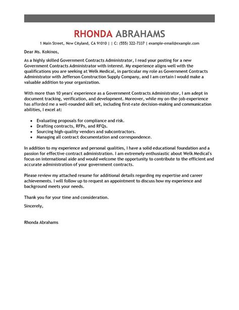 army cover letter government cover letter exles livecareer