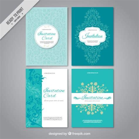 Hochzeitseinladungen Set by Set Hochzeitseinladungen Der Kostenlosen Vektor