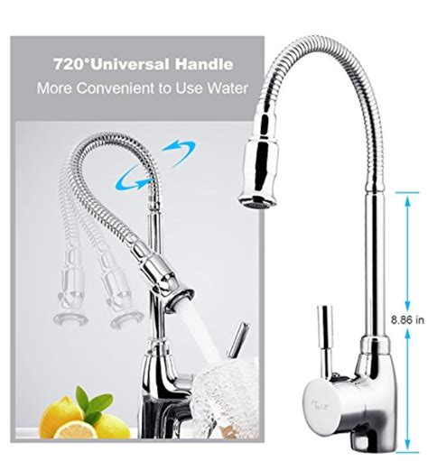 360 rotation stainless steel kitchen sink faucet