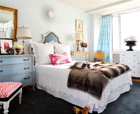 eclectic bedroom turquoise drapes eclectic bedroom sara tuttle interiors