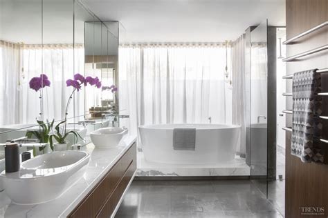 upmarket bathrooms upmarket bathroom suite with natural materials and freestanding tub