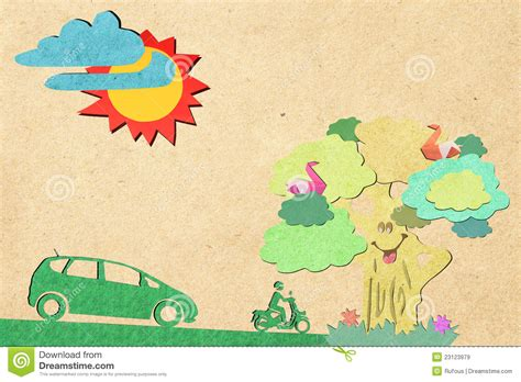 wallpaper craft com eco icon recycled paper craft background stock image
