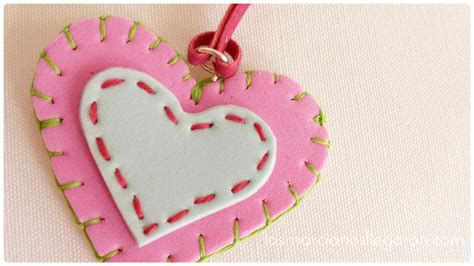 imagenes de corazones en foami dije de foami en forma de coraz 243 n el blog de