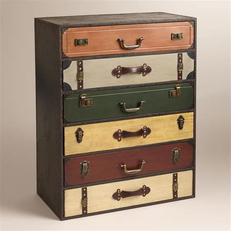 suitcase dresser trenton suitcase chest world market