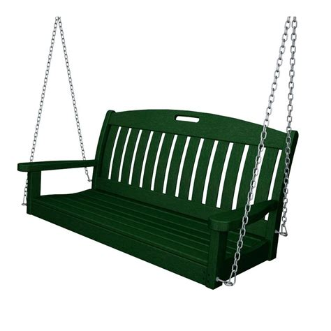 Patio Swing Green Post 5 Ft Traditional Wood Porch Patio
