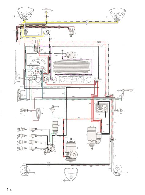 1974 vw beetle wiring harness diagram get free image