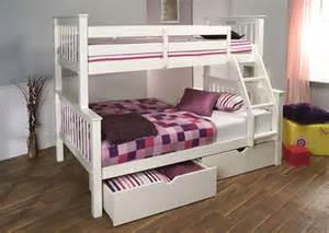 Three Sleeper Bunk Bed Pavo High Three Sleeper Bunk Bed White Limelight Beds
