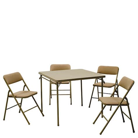 card table with 4 padded chairs cosco 34 quot card table padded 4 chair set gallery