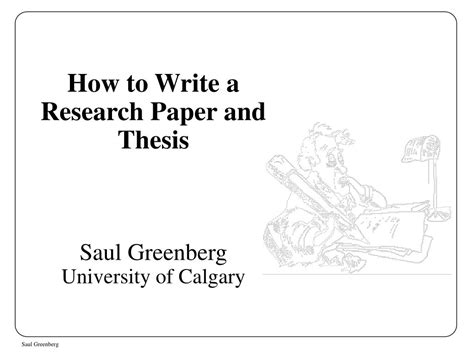 How To Make Research Paper Presentation - ppt how to write a research paper and thesis saul