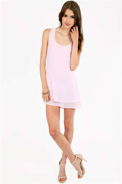 light pink tank dress kamila tank dress tobi