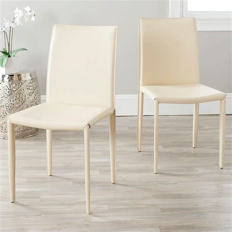 safavieh karna bonded leather dining chair set of 2