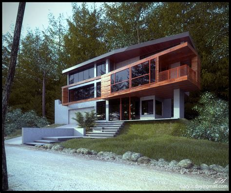 twilight house cgarchitect professional 3d architectural visualization user community another view of