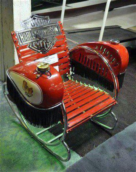 harley davidson chair just a car a cool homebuilt harley lawnchair