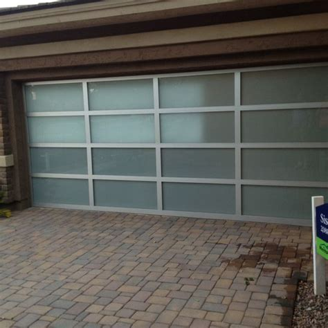 Garage Doors With Glass Frosted Glass Garage Door Home Exterior