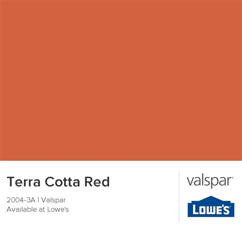 terra cotta from valspar paint