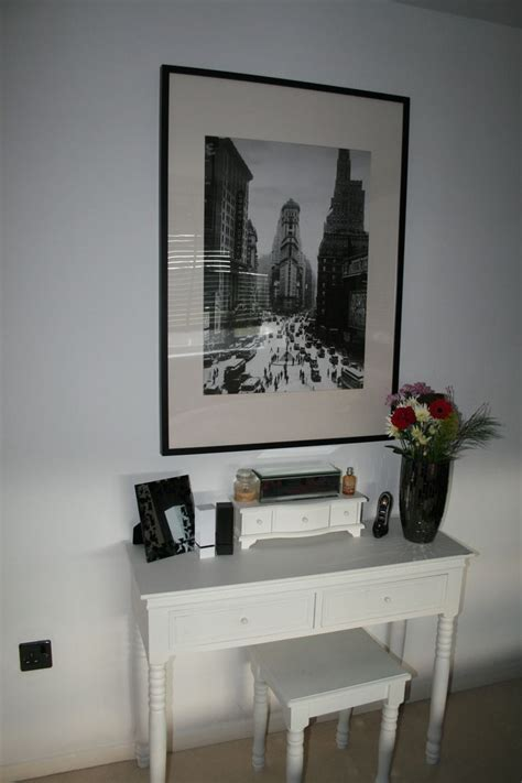 Large Bedroom Vanity Bedroom Small White Console Table Dresser Against White Wall White Vanity White Stool Large