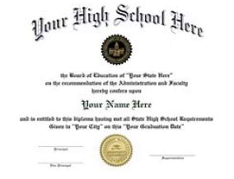 high school diploma template with seal pin high school diploma certificate template on