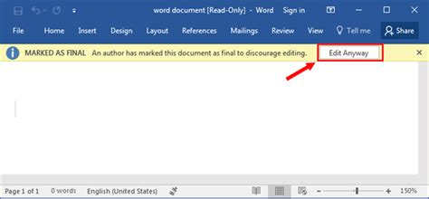 Can T Edit Word Document
