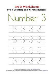 writing number 3 worksheet pre k worksheets org