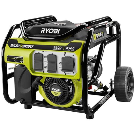 ryobi 3 600 watt 212cc gasoline powered portable generator