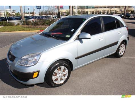 Kia 2008 Lx Polar Blue 2008 Kia Rio5 Lx Hatchback Exterior Photo