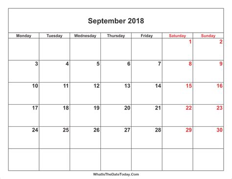2018 Monthly Calendar Printable Best September 2018 Calendar Printable Free Monthly