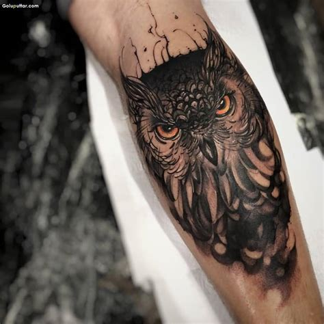 the best owl tattoo design best animated angry owl tattoo on forearm ever photos and