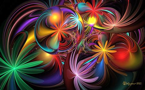 wallpaper abstract colorful flower colorful flower abstract wallpaper and background