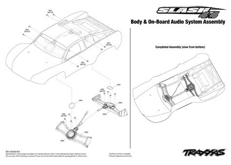 traxxas slash 4x4 parts diagram slash 4x4 68086 21 on board audio system assembly