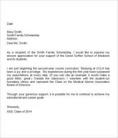 scholarship thank you letter 11 documents in