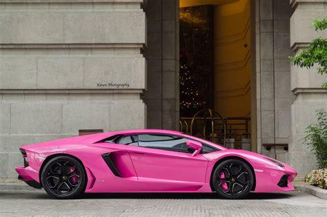 car lamborghini pink lamborghini aventador finished in bright pink gtspirit