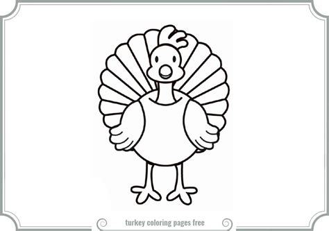 turkey coloring pages printable turkey free coloring pages