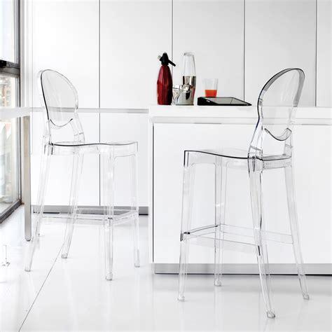 Tabouret Polycarbonate by Tabouret En Polycarbonate Transparent De Design Bosa