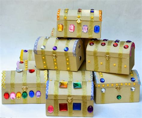 How To Make A Paper Treasure Chest - 25 best ideas about treasure chest craft on