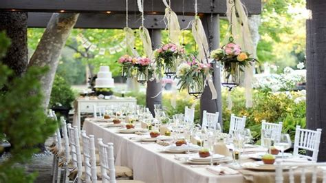 elegant french country decor outdoor engagement party