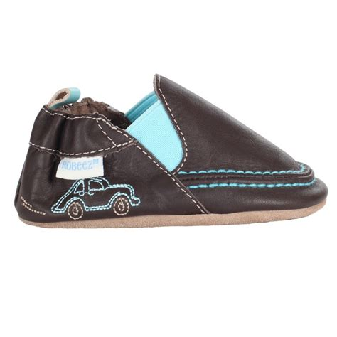 robeez shoes robeez brown cruiser soft sole baby boy shoe