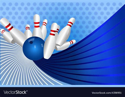 bowling background bowling background royalty free vector image vectorstock
