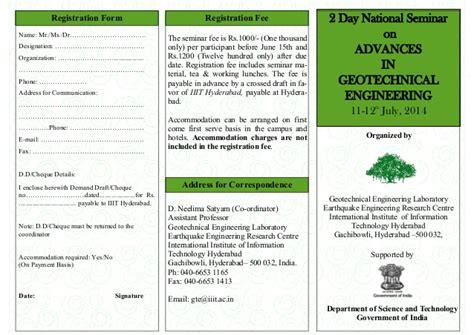 design form brochure brochure and registration form