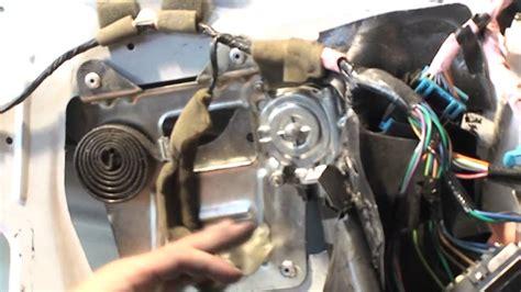how to change a window electric motor on a 1988 subaru xt power window motor install youtube