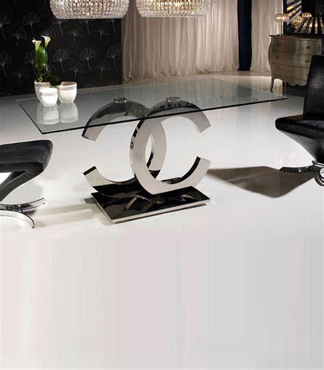 mesa comedor cristal y acero mesa de comedor de cristal y acero calima compra a 1430