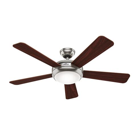 brushed nickel ceiling fan with remote palermo 52 in indoor brushed nickel ceiling fan