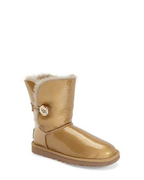 ugg bailey button mirage water resistant boot in gold