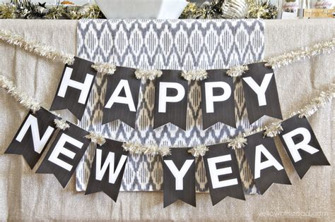 printable new years banner 2016 happy new year printable banner ghostly goings on