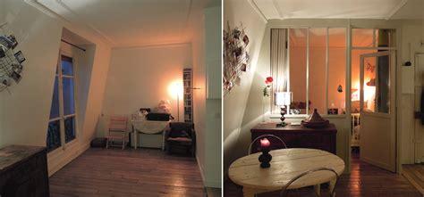 chambre en idee pour separer une chambre en deux separation rideau