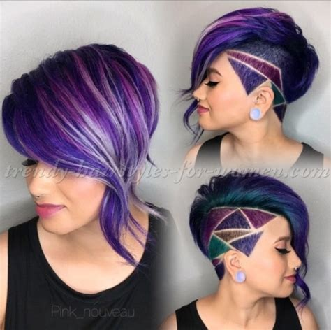 color pattern for short hair undercut hairstyles for women hair tattoo for women