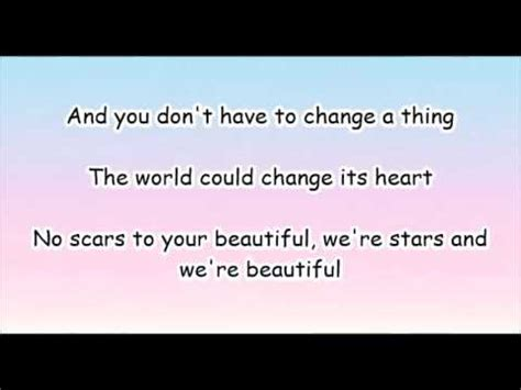 and beautiful testo alessia cara scars to your beautiful lyrics