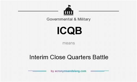 What Does Ccb Stand For by What Does Icqb Mean Definition Of Icqb Icqb Stands