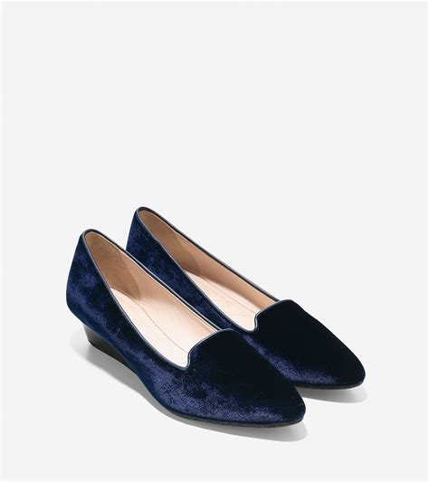 Tali Kertas 1 Mm cole haan tali luxe slipper wedge 40mm in blue lyst